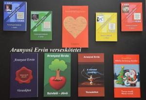 Aranyosi Ervin eddig megjelent verseskötetei